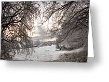 The Wintery Landscape Greeting Card