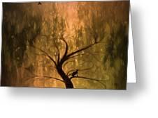 The Wishing Tree Greeting Card by Hazel Billingsley