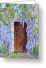 The Wisteria Gate Greeting Card