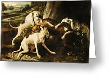 The Wolf Hunt Greeting Card