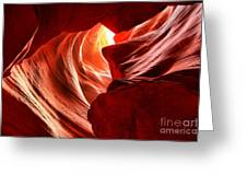 The Woman In The Canyon Greeting Card