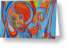 The Woman With The Red Soul Greeting Card
