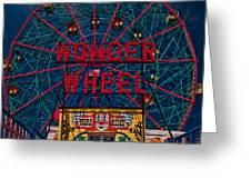 The Wonder Wheel At Luna Park Greeting Card