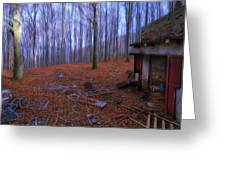 The Wood A La Magritte - Il Bosco A La Magritte Greeting Card