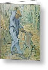 The Woodcutter After Millet Saint Remy De Provence September 1889 Vincent Van Gogh 1853  1890 Greeting Card