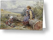 The Woodcutter's Children Greeting Card