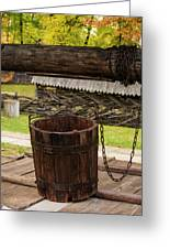The Wooden Bucket Greeting Card