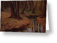 The Woods Are Deep And Dark Greeting Card