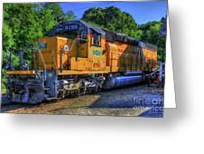 The Workhorse Squaw Creek Southern Rail Road Locomotive Art Greeting Card