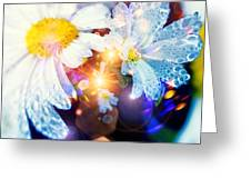 The World Of Dancing Flowers Greeting Card