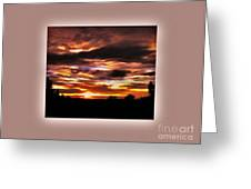 The Wow In A Sunset Greeting Card