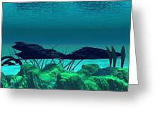 The Wreck Diving The Reef Series Greeting Card