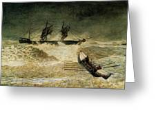 The Wreck Of The Iron Cloud, 1881 Greeting Card