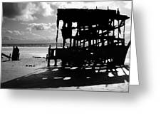 The Wreckage Of The Peter Iredale II Greeting Card
