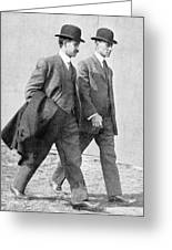 The Wright Brothers, Us Aviation Pioneers Greeting Card
