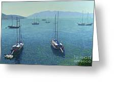 The Yachts Greeting Card