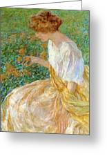 The Yellow Flower 1908 Greeting Card