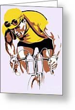 The Yellow Jersey Retro Style Cycling Greeting Card