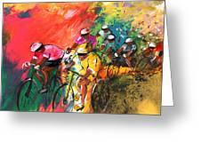 The Yellow River Of The Tour De France Greeting Card