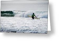 The Yellow Surfboard Greeting Card