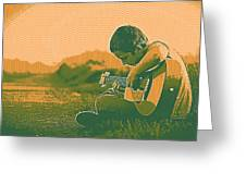 The Young Musician 2 Greeting Card