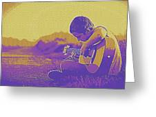 The Young Musician 3 Greeting Card
