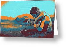 The Young Musician Greeting Card