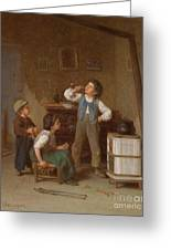 The Young Pipe Smoker Greeting Card