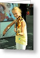 The Young Violinist  Greeting Card