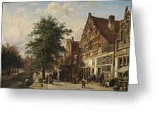 The Zuiderhavendijk, Enkhuizen, 1868 Greeting Card