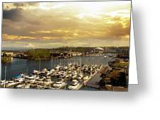 Thea Foss Waterway In Tacoma Washington Greeting Card