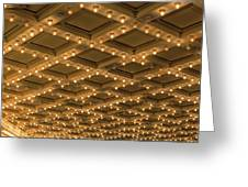 Theater Ceiling Marquee Lights Greeting Card