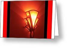 Theater Homage Art Deco Lighting Fixture Fox Tucson 2 Tucson Arizona 2006 Grand Reopening Greeting Card