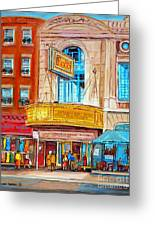 Theatre Rialto Ave. Du Parc Montreal Greeting Card