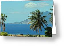 Thecaribbean  Island Of St Eustatius Greeting Card