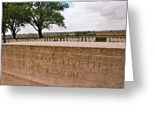Their Name Liveth For Evermore Greeting Card