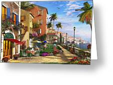 Themed Terrace Greeting Card