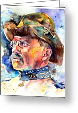 Theodore Roosevelt Painting Greeting Card