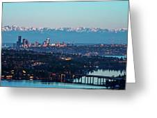 The_olympics_over_seattle Greeting Card