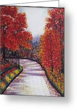 There Is Always A Bright Road Ahead Greeting Card