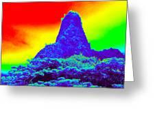 Thermal Face Of Hawaii Greeting Card