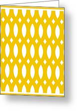 Thick Curved Trellis With Border In Mustard Greeting Card