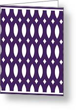 Thick Curved Trellis With Border In Purple Greeting Card