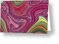 Thick Paint Abstract Greeting Card