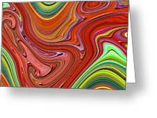 Thick Paint Orange Abstract Greeting Card