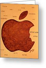 Think Different Steve Jobs 2 Greeting Card by Georgeta  Blanaru
