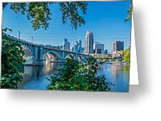Third Avenue Bridge Over Mississippi River Greeting Card
