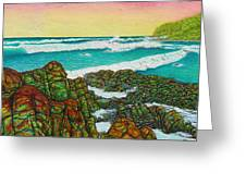 Third Bay Coolum Beach Triptych Greeting Card