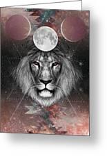 Third Eye Lion Vision Greeting Card