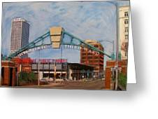 Third Ward Arch Over Public Market Greeting Card